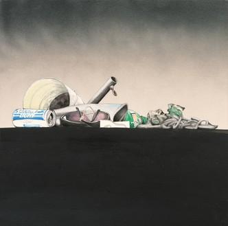 Ed Ruscha, Study for Psycho Spaghetti Western #4, 2010 Acrylic on canvas, 26 × 26 inches (66 × 66 cm)© Ed Ruscha