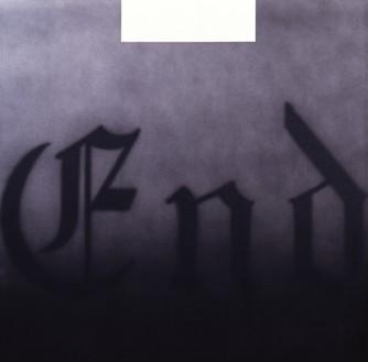 Ed Ruscha, End, 1993 Acrylic on canvas, 48 × 48 inches (121.9 × 121.9 cm)© Ed Ruscha