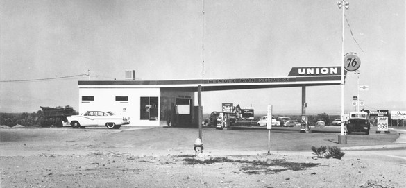 Ed Ruscha, Twentysix Gasoline Stations, 1962 (detail; Union, Needles, California) Artist's book: offset printing on paper, closed: 7 ⅛ × 5 ½ × ¼ inches (18.1 × 14 × 0.5 cm); edition of 400© Ed Ruscha