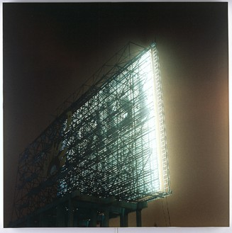 Elisa Sighicelli, Untitled (White), 2006 Partially backlit C-print on lightbox, 48 × 48 × 2 ⅜ inches (122 × 122 × 6 cm), edition of 3