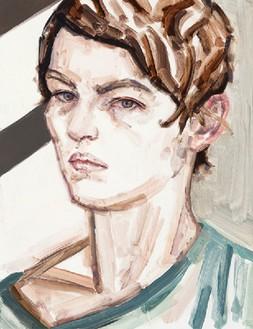 Elizabeth Peyton, (Self Portrait) Berlin, 2011 Oil on board, 15 × 11 inches (38.1 × 27.9 cm)