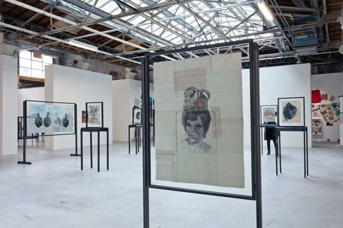 Installation view of works by Ellen Gallagher, La Triennale—Intense Proximité, Palais de Tokyo, Paris, 2012 Artwork © Ellen Gallagher