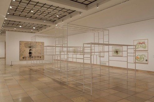 Installation view, Ellen Gallagher: AxME, Haus der Kunst, Munich, 2014 Artwork © Ellen Gallagher. Photo: Wilfried Petzi