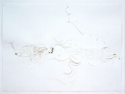 Ellen Gallagher, Watery Ecstatic series, 2001 Ink, oil, pencil, and cut paper on paper, 22 ¼ × 30 inches (56.5 × 76.2 cm)