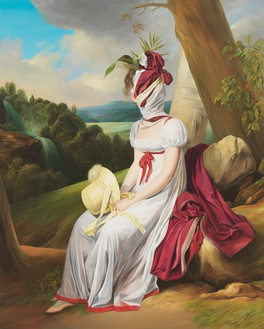 Ewa Juszkiewicz, Untitled (after Louis Leopold Boilly), 2019 Oil on canvas, 78 ¾ × 63 inches (200 × 160 cm)© Ewa Juszkiewicz. Photo: Bartosz Gorka
