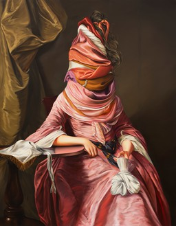 Ewa Juszkiewicz, Untitled (after Joseph Wright), 2020 Oil on canvas, 63 × 49 ¼ inches (160 × 125 cm)© Ewa Juszkiewicz