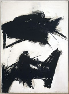 Franz Kline, Black Sienna, 1960 Oil on canvas, 92 ¼ × 68 inches (234.3 × 172.7 cm)