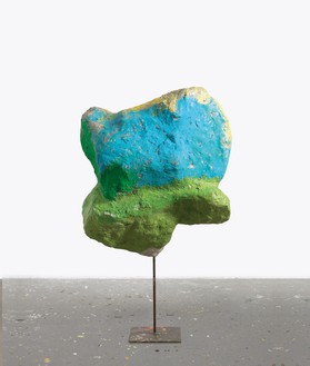 Franz West, Untitled, 2011 Papier-mâché, polystyrene, acrylic lacquer, and steel, 58 ¼ × 35 × 20 ⅞ inches (148 × 89 × 53 cm)© Archiv Franz West and © Estate Franz West