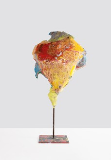 Franz West, Untitled, 2011 Papier-mâché, polystyrene, acrylic lacquer, and steel, 45 ¼ × 24 ¾ × 19 ⅝ inches (115 × 63 × 50 cm)© Archiv Franz West and © Estate Franz West