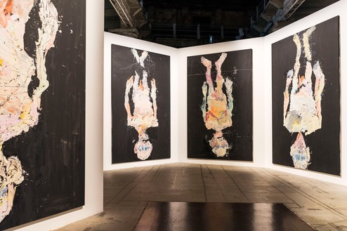 Installation view of Avignon (2014) by Georg Baselitz at Biennale di Venezia, Venice, May 9–November 22, 2015 © Georg Baselitz