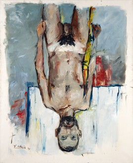 Georg Baselitz, Fingermalerei - Akt (Finger Painting - Nude), 1972 Oil on canvas, 78 ¾ × 63 ¾ inches (200 × 162 cm)© Georg Baselitz