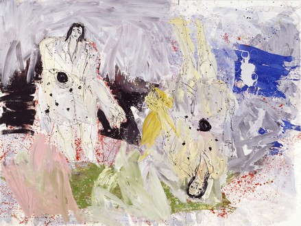 Georg Baselitz, Franz Pforr Ganz Groß (Remix) (Franz Pforr Very Big [Remix]), 2006 Oil on canvas, 118 ⅛ × 157 ½ inches (300 × 400 cm)© Georg Baselitz