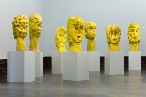 Georg Baselitz, Dresdner Frauen (Women of Dresden), 1989–90 Wood and tempera, installation dimensions variable© Georg Baselitz