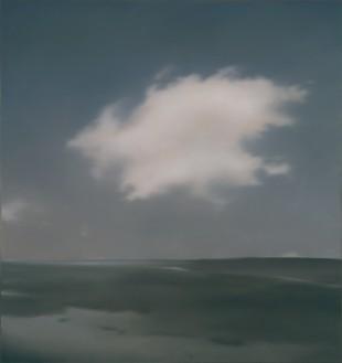 Gerhard Richter, Landschaft mit Wolke (Landscape with Cloud), 1969 Oil on canvas, 35 ⅞ × 33 ⅞ inches (91 × 86 cm)© Gerhard Richter