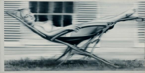 Gerhard Richter, Liegestuhl II (Deck Chair II), 1965 Oil on canvas, 39 ⅜ × 78 ¾ inches (100 × 200 cm)© Gerhard Richter