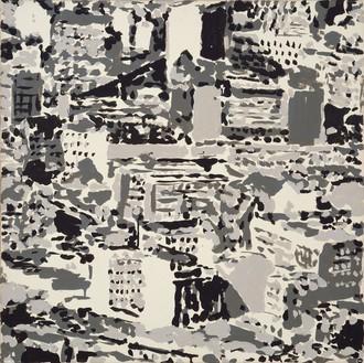 Gerhard Richter, Stadtbild (Townscape), 1969 Amphibolin on canvas, 27 ¾ × 27 ¾ inches (70.5 × 70.5 cm)© Gerhard Richter