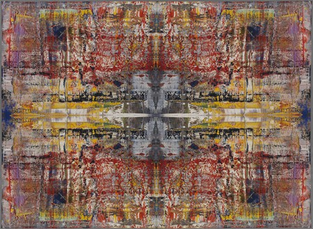 Gerhard Richter, MUSA, 2009 Jacquard woven, 108 11/16 × 148 13/16 inches (rolled) (276 × 378 cm)