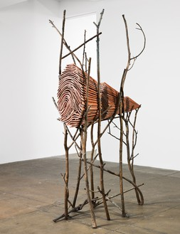 Giuseppe Penone, Ombra di terra (Earth Shadow), 2000 Bronze and terra-cotta, 111 ½ × 63 ¾ × 33 ⅞ inches (283 × 162 × 86 cm)© Archivio Penone