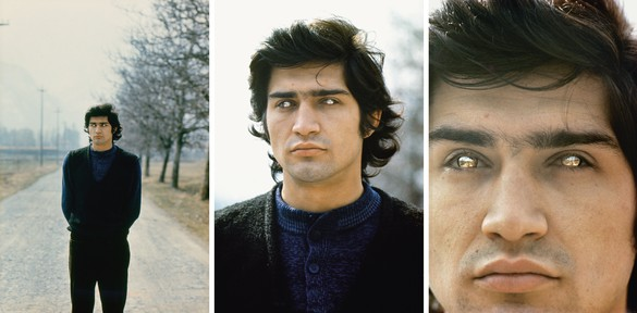 Giuseppe Penone, Rovesciare i propri occhi (Reversing One's Eyes), 1970 Mirroring contact lenses, sequence of 6 slides© Archivio Penone