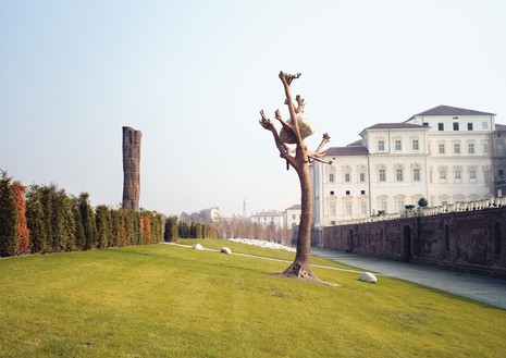 Giuseppe Penone, Idee di pietra (Ideas of Stone), 2003–07 Bronze and river stone, 326 ¾ × 98 ½ × 86 ⅝ inches (830 × 250 × 220 cm), permanent installation at Reggia di Venaria Reale, Turin© Archivio Penone