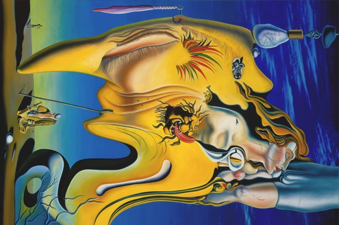 Glenn Brown, You Take My Place in This Showdown, 1996 Oil on canvas, 84 ⅝ × 126 ¾ inches (214.9 × 321.9 cm)© Glenn Brown