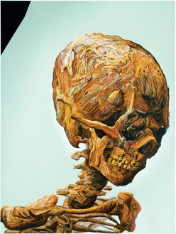 Glenn Brown, Suffer Well, 2007 Oil on panel, 61 ⅞ × 47 ¼ inches (157 × 120 cm)© Glenn Brown