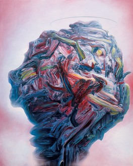 Glenn Brown, Dirty, 2003 Oil on panel, 41 ¼ × 32 ¾ inches (105 × 83 cm)© Glenn Brown