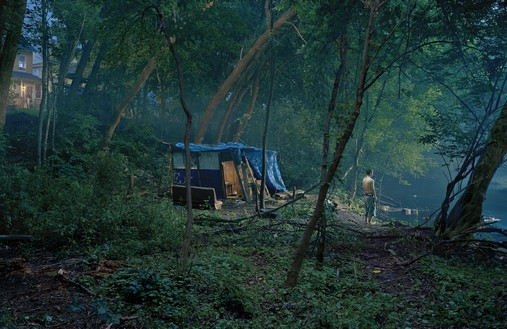 Gregory Crewdson, Untitled, 2006 Digital pigment print, image: 57 × 88 inches (144.8 × 223.5 cm), framed: 64 ¼ × 94 ¼ inches (163.2 × 239.4 cm), edition of 6 + 2 AP© Gregory Crewdson