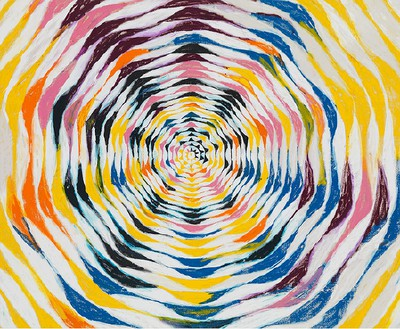 Harmony Korine, Strawb Circle, 2015 Oil on canvas, 84 × 102 inches (213.4 × 259.1 cm)© Harmony Korine, photo by Rob McKeever