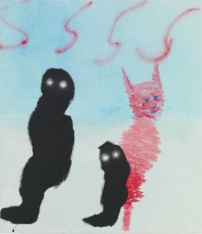 Harmony Korine, Gatekeppers, 2013 Oil, latex house paint, and spray paint on canvas, 82 × 71 inches (208.3 × 180.3 cm)Photo by Rob McKeever