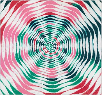 Harmony Korine, Watermellon Circle, 2015 Oil on canvas, 64 × 70 inches (162.6 × 177.8 cm)© Harmony Korine, photo by Rob McKeever