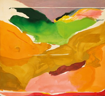 Helen Frankenthaler, Nature Abhors a Vaccum, 1973 Acrylic on canvas, 103 ½ × 112 inches (262.9 × 284.5 cm), National Gallery of Art, Washington, DC© 2018 Helen Frankenthaler Foundation, Inc./Artists Rights Society (ARS), New York