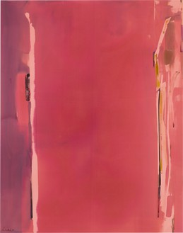 Helen Frankenthaler, Sentry, 1976 Acrylic on canvas, 114 × 90 inches (289.6 × 228.6 cm)© 2018 Helen Frankenthaler Foundation, Inc./Artists Rights Society (ARS), New York