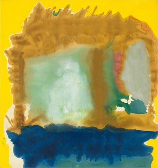 Helen Frankenthaler, Milkwood Arcade, 1963 Acrylic on canvas, 86 ½ × 80 ¾ inches (219.7 × 205.1 cm)© 2018 Helen Frankenthaler Foundation, Inc./Artists Rights Society (ARS), New York