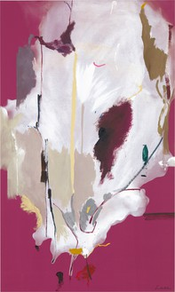 Helen Frankenthaler, Columbine, 1985 Acrylic on canvas, 81 ¼ × 48 ¾ inches (206.4 × 123.8 cm)© 2018 Helen Frankenthaler Foundation, Inc./Artists Rights Society (ARS), New York