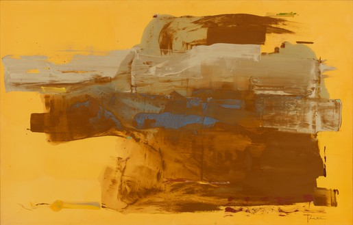Helen Frankenthaler, Mineral Kingdom, 1976 Acrylic on canvas, 69 × 108 ½ inches (175.3 × 275.6 cm)© 2018 Helen Frankenthaler Foundation, Inc./Artists Rights Society (ARS), New York
