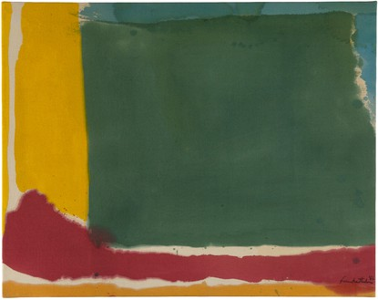 Helen Frankenthaler, Square Field, 1966 Acrylic on canvas, 22 × 28 inches (55.9 × 71.1 cm)© 2018 Helen Frankenthaler Foundation, Inc./Artists Rights Society (ARS), New York. Photo: Tim Pyle