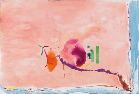 Helen Frankenthaler, Flirt, 1995 Acrylic on paper, 60 ½ × 89 ½ inches (153.7 × 227.3 cm)© 2018 Helen Frankenthaler Foundation, Inc./Artists Rights Society (ARS), New York