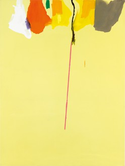 Helen Frankenthaler, Rapunzel, 1974 Acrylic on canvas, 108 × 81 inches (274.3 × 205.7 cm)© 2018 Helen Frankenthaler Foundation, Inc./Artists Rights Society (ARS), New York