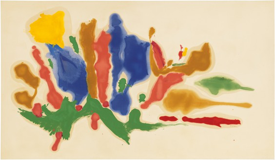 Helen Frankenthaler, Cool Summer, 1962 Oil on canvas, 69 ¾ × 120 inches (177.2 × 304.8 cm)© 2018 Helen Frankenthaler Foundation, Inc./Artists Rights Society (ARS), New York