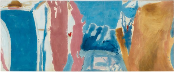 Helen Frankenthaler, Open Wall, 1953 Oil on unsized, unprimed canvas, 53 ¾ × 131 inches (136.5 × 332.7 cm)© 2018 Helen Frankenthaler Foundation, Inc./Artists Rights Society (ARS), New York