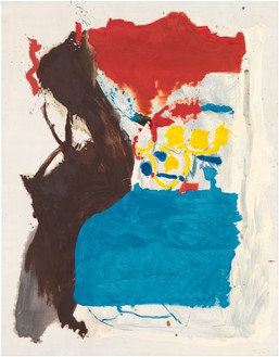 Helen Frankenthaler, Untitled, 1959–60 Oil and charcoal on sized, primed linen, 89 ¾ × 69 ¾ inches (228 × 177.2 cm)© 2018 Helen Frankenthaler Foundation, Inc./Artists Rights Society (ARS), New York