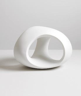 Henry Moore, Three Way Ring, 1966 Porcelain, 9 11/16 × 13 ⅜ × 11 ⅜ inches (24.6 × 34 × 29 cm), edition of 6Reproduced by permission of The Henry Moore Foundation, photo by Mike Bruce