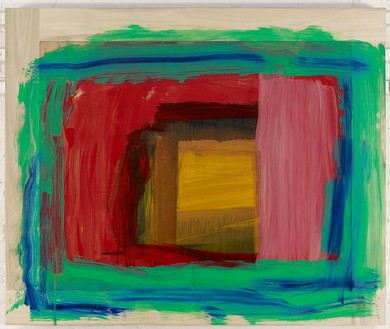 Howard Hodgkin, For Matisse, 2011–14 Oil on wood, 45 ¾ × 54 ⅞ inches (116.2 × 139.4 cm)© Howard Hodgkin