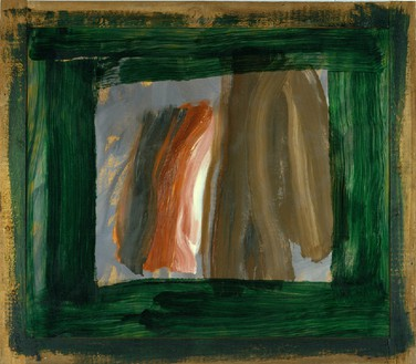 Howard Hodgkin, Listening, 2003–05 Oil on wood, 53 ⅞ × 61 ½ inches (136.8 × 156.2 cm)© Howard Hodgkin