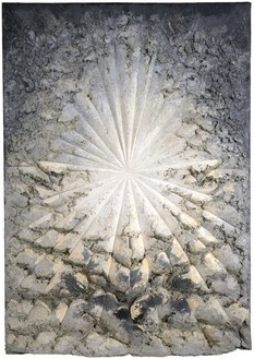 Jay DeFeo, The Rose, 1958–66 Oil with wood and mica on canvas, 128 ⅞ × 92 ¼ × 11 inches (327.3 × 234.3 × 27.9 cm), Whitney Museum of American Art, New York© 2020 The Jay DeFeo Foundation/Artists Rights Society (ARS), New York