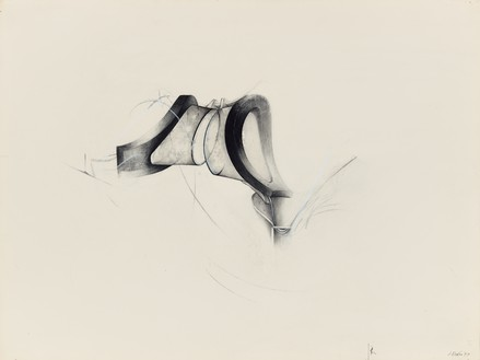 Jay DeFeo, Untitled (Water Goggles series), 1977 Acrylic, graphite, and charcoal on paper, 15 x 20 inches (38.1 x 50.8 cm), Whitney Museum of American Art, New York© 2020 The Jay DeFeo Foundation/Artists Rights Society (ARS), New York