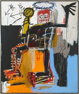 Jean-Michel Basquiat, Untitled, 1981 Acrylic, oil stick and pencil on canvas, 72 × 60 inches (182.9 × 152.4 cm)© The Estate of Jean-Michel Basquiat/ADAGP, Paris, ARS, New York 2013