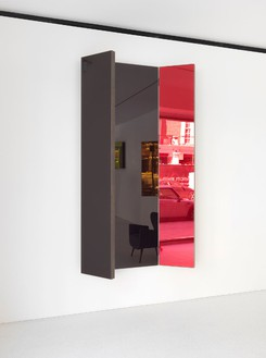 Jean Nouvel, Mirror B, 2014 Walnut and colored mirrors, Dimensions variable, edition of 6© Jean Nouvel Design, photo by Mike Bruce