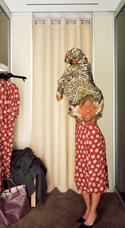 Jeff Wall, Changing Room, 2014 Inkjet print, 78 ⅝ × 43 inches (199.5 × 109 cm)© Jeff Wall